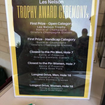 14 Trophy Awards sign